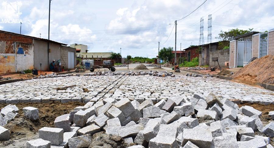 Resultado de imagem para pavimentação do santa rosa mangabeira Macaíba